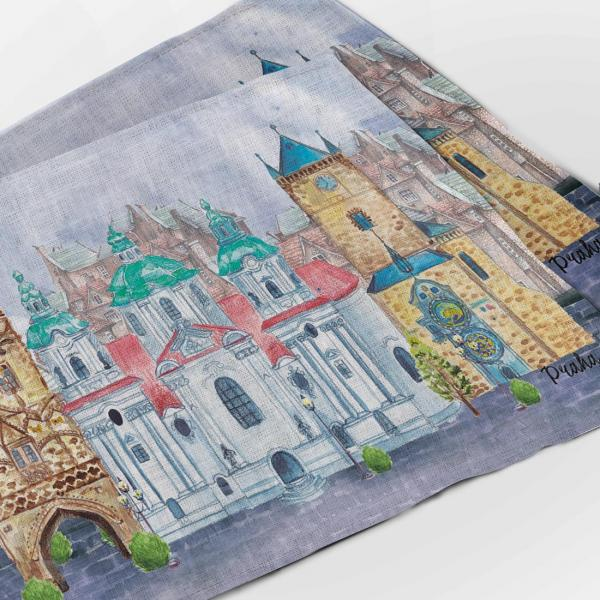 Placemats set / Prague city lll