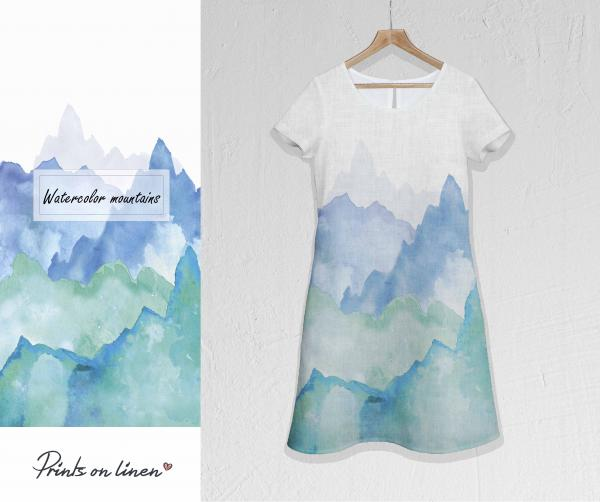 Linen dress / Mountains M005