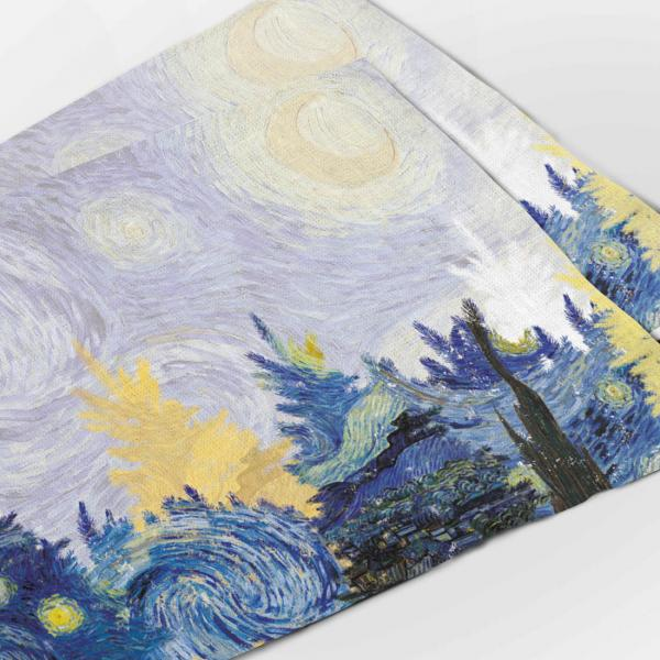 Placemats set / Starry Christmas Night