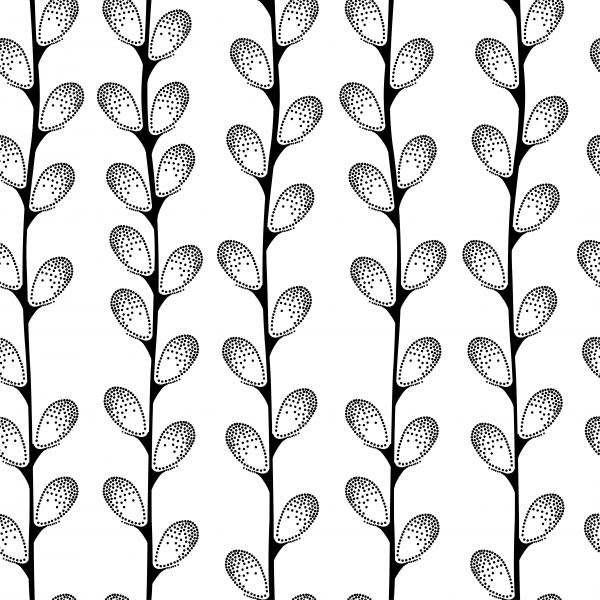 Seamless pattern with decorative pussy-willow.