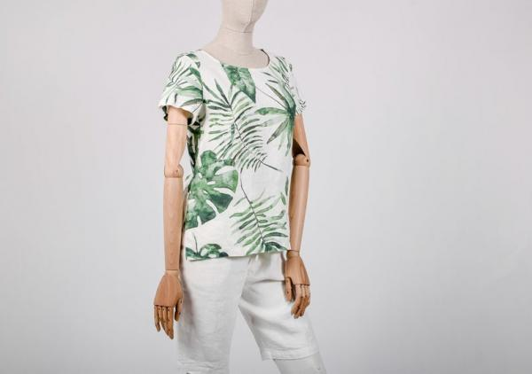 Linen shirt / Monstera