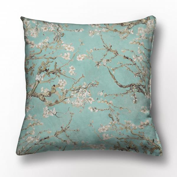 Cushion cover / Almond Blossom / Turquoise