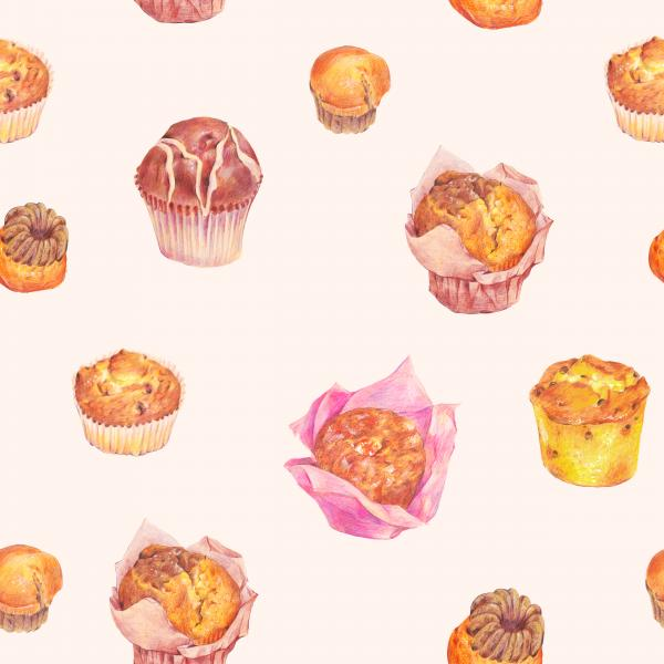 Pattern with muffins