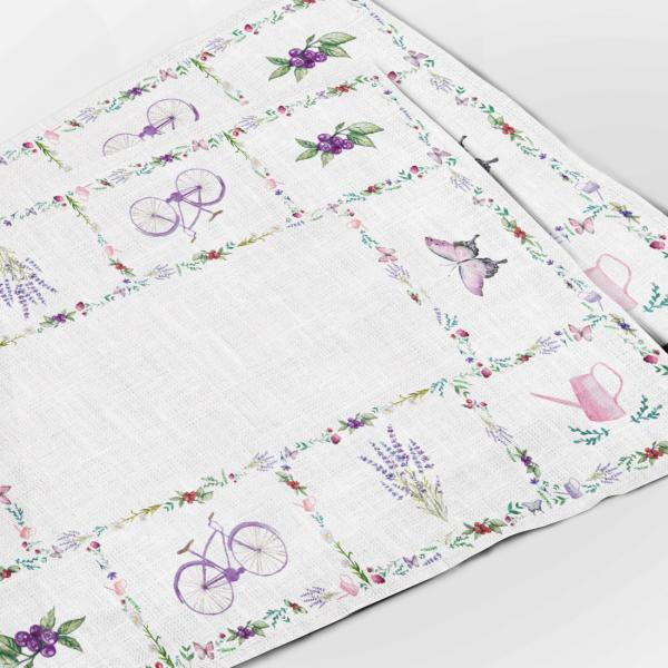 Placemats / Bicycle and Lavenders