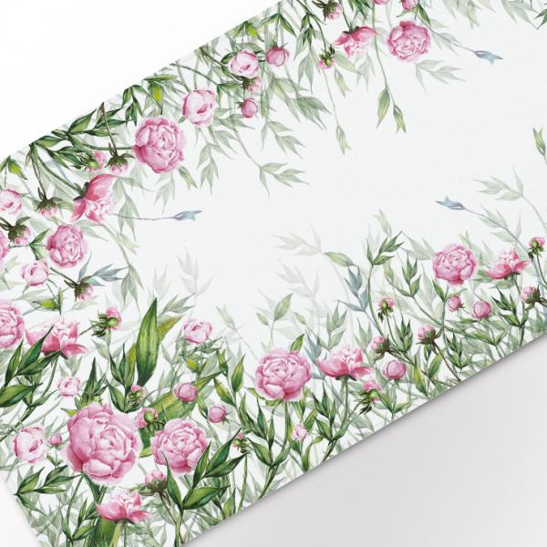 "Table runner ""Peony"""