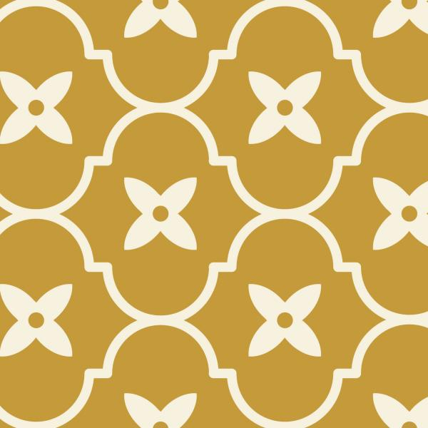 Floral Ogee - Mustard