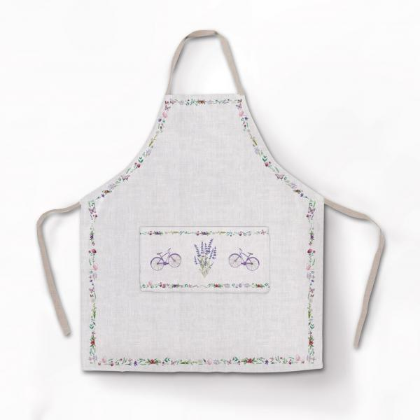 Apron / Bicycle and Lavenders