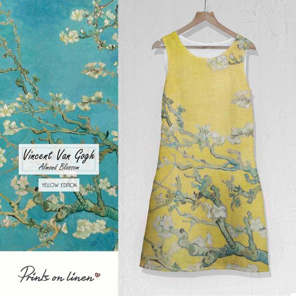 Linen dress / Almond Blossom (yellow)