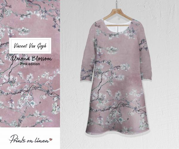 Linen dress / Almond Blossom (pink)