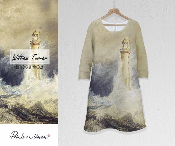 Linen dress / Bell Rock Lighthouse
