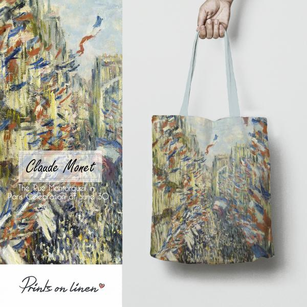 Tote bag / The Rue Montorgueil in Paris Celebration of June 30