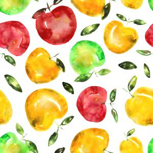 Sweet apples in watercolor