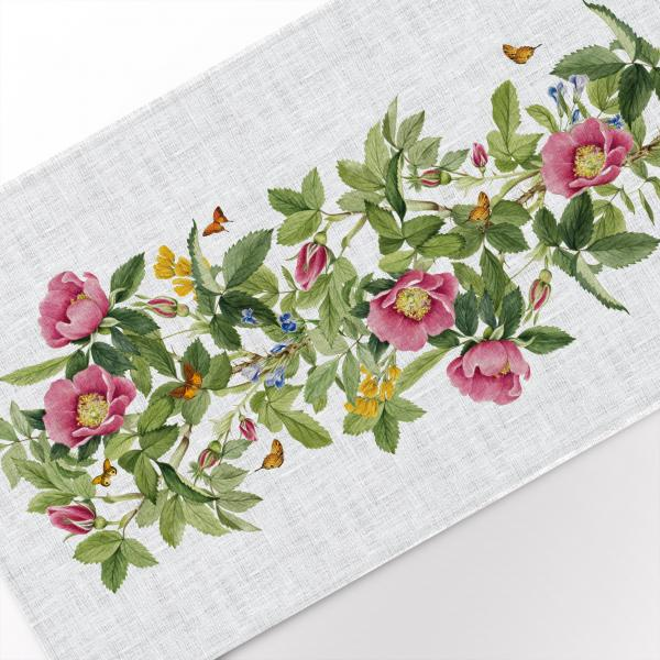 Table runner / Bourgeau Rose
