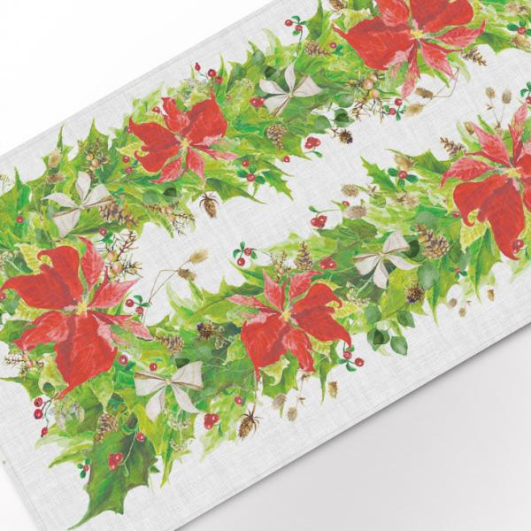 Table runner / Poinsettia