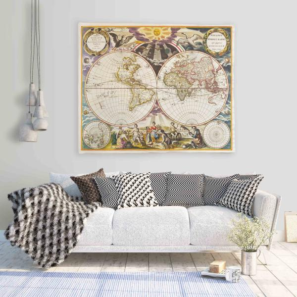 Wall tapestry / Map 1863