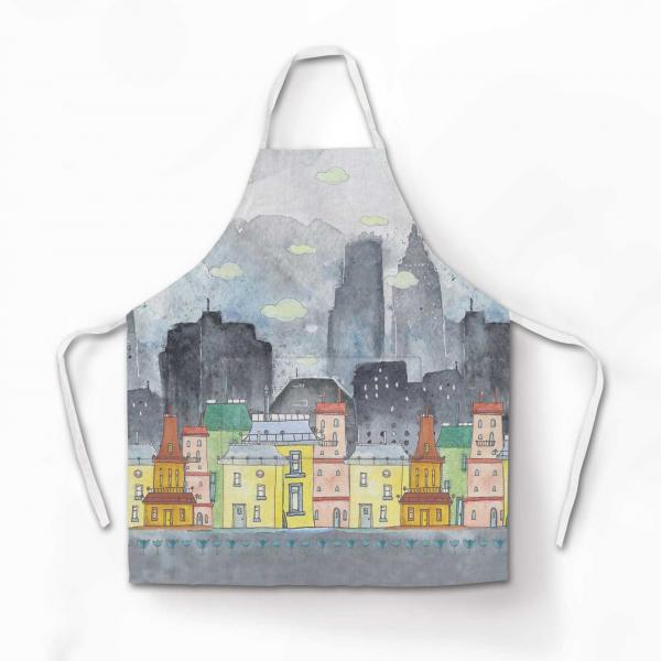 "Apron ""Colourful houses"""