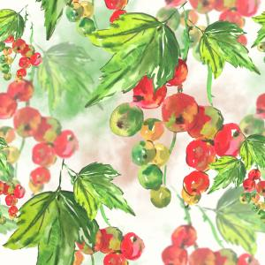 Watercolor pattern with currant