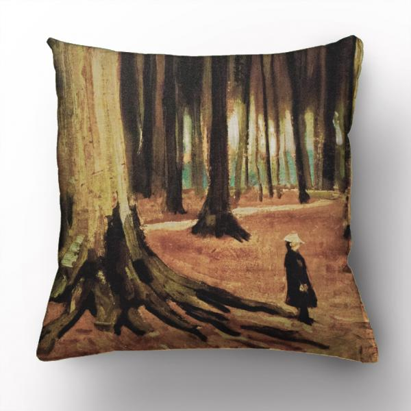 Cushion cover / Girl In The Woods