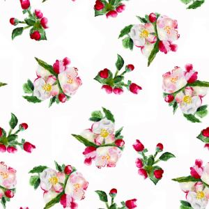 Apple blossom spring pattern
