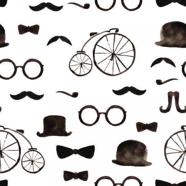 Gentleman retro pattern