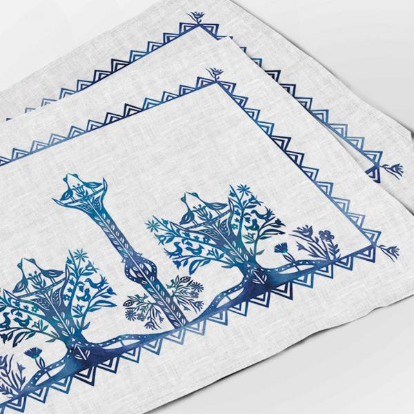 Placemats set / Traditional papercuts