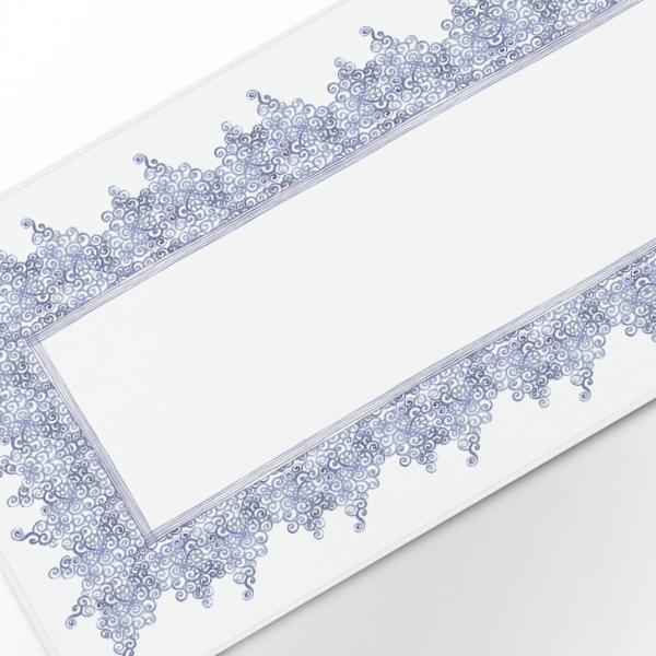 """Table runner """"Blue laces pattern"""""""