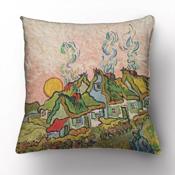 Cushion cover / Houses and Figure