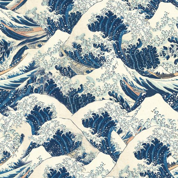 Hokusai Waves pattern