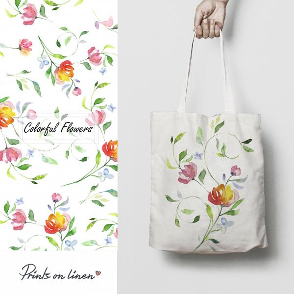 Tote bag / Colorful flowers
