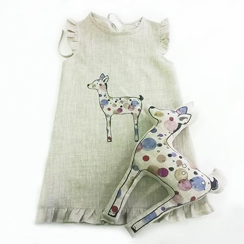 Girls dress with toy