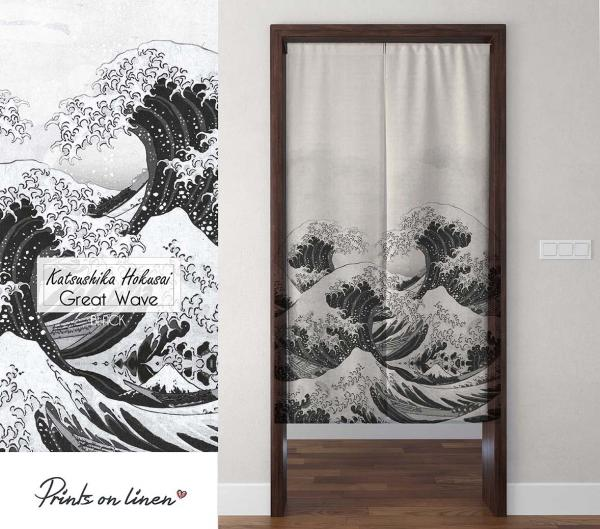 Noren / The Great Wave (white)