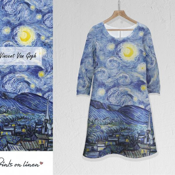 Linen dress / Starry Night Over the Rhône