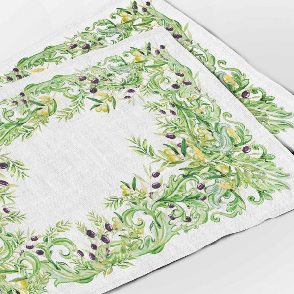 "Placemats ""Olives garden"""