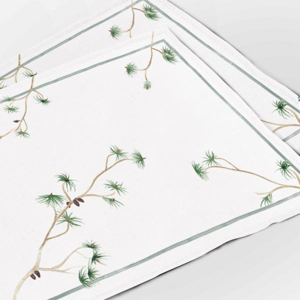 """Placemats """"Pine branch"""""""