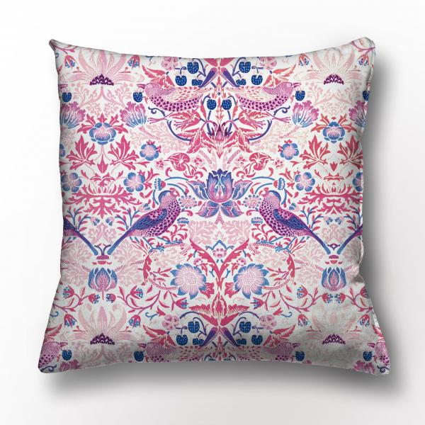 Cushion cover / Strawberry Thief (Pink)