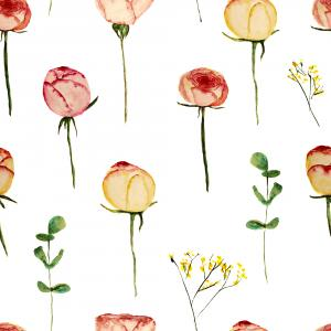 Roses without thornes pattern
