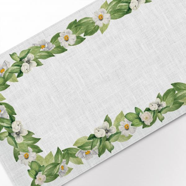 Table runner / White flower set