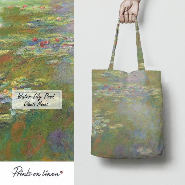 "Tote bag / Water Lily Pond"" 1917 - 1919"