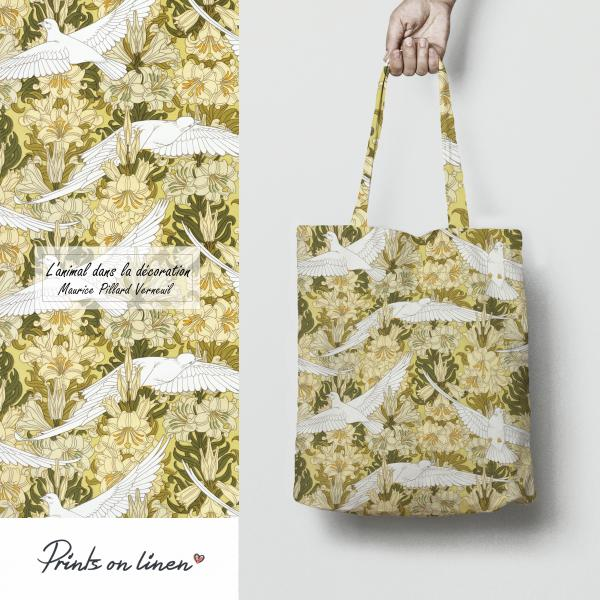 Tote bag / Colombes et lis