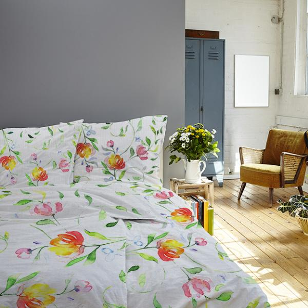 "Bedding set ""Colourful flowers"""