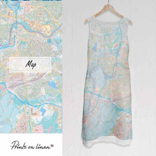 Long linen dress / Map