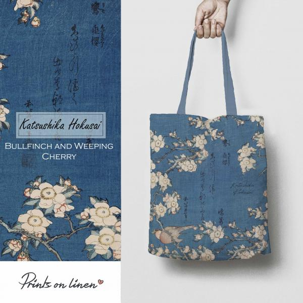 Table bag / Bullfinch and Weeping Cherry
