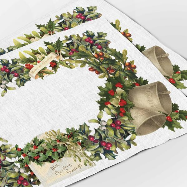 Placemats set / Christmas Letters