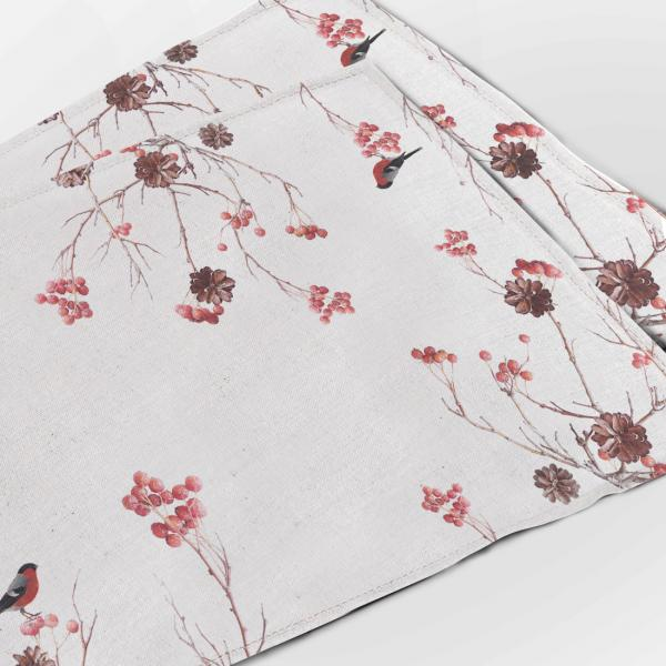 Placemats set / Guelder - rose