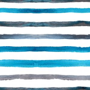 Azure blue and grey watercolor stripes