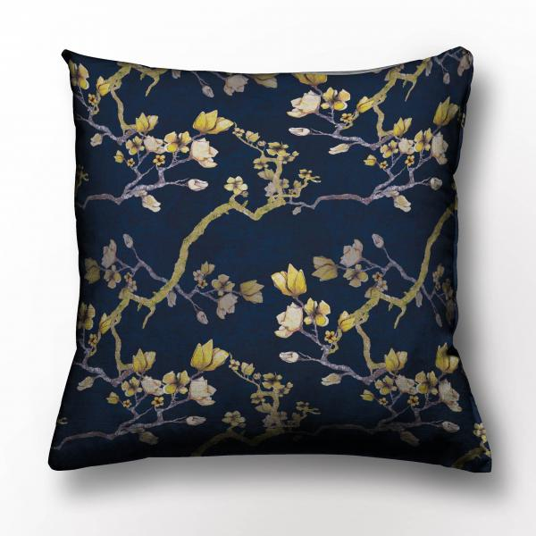 Cushion cover /   Midnight Flowers