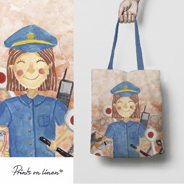 Tote bag / Police Officer (woman)