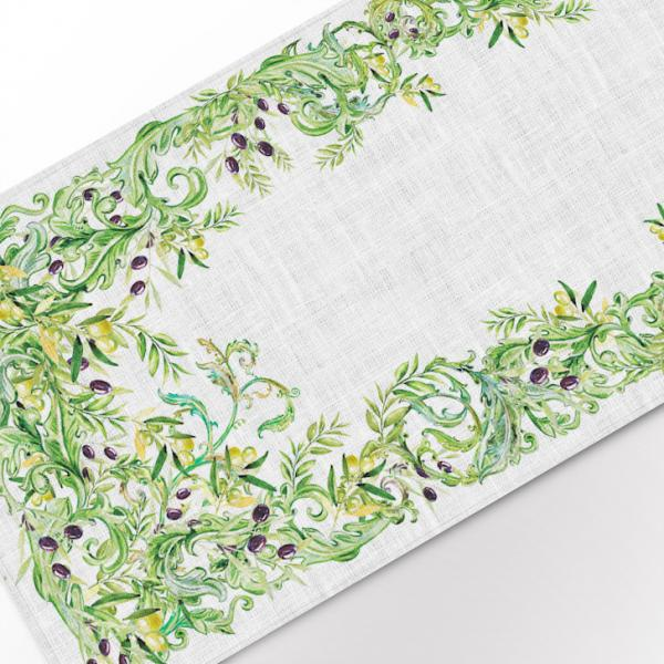 "Table runner ""Olives garden"""