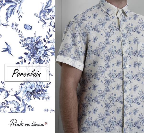 Men shirt / Porcelain