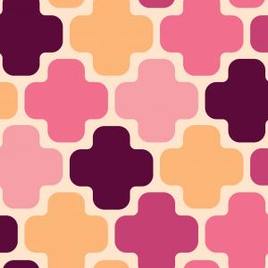 Moroccan Cross - Warm pinks